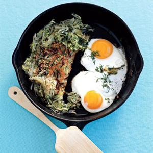 Spring Hash With Eggs Sunny-Side Up