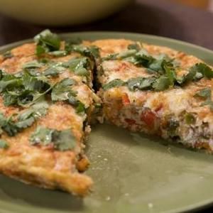 Chicken Sausage Frittata with Side Salad