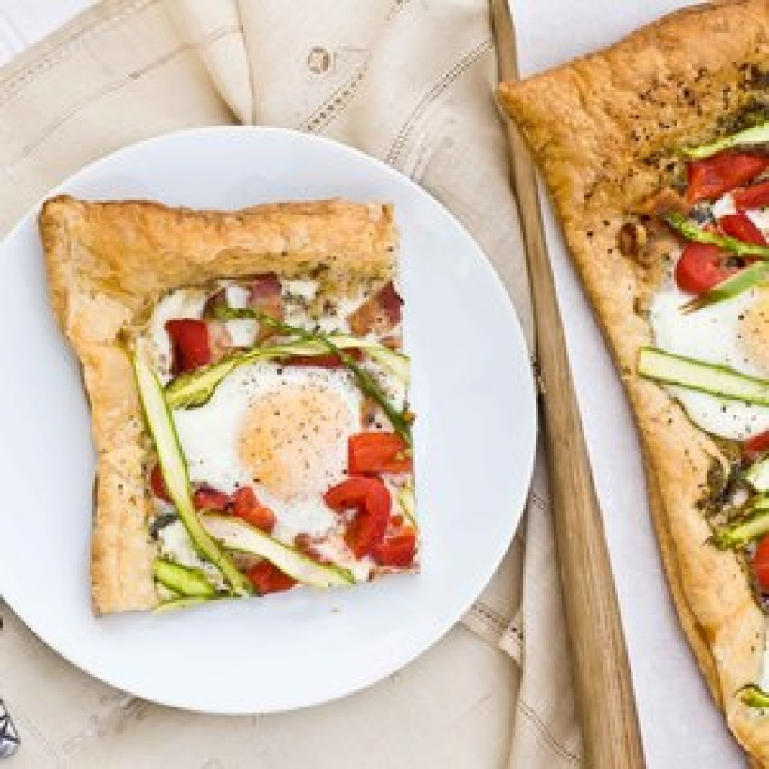 Asparagus Pesto Breakfast Tart