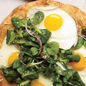 Sunny-Side-Up Pizza