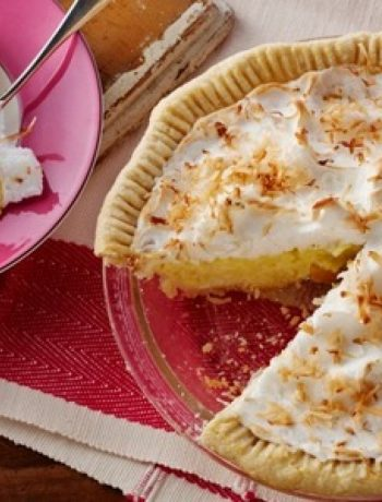 Coconut Cream Pie with Coconut Meringue
