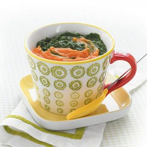 Spinach and Sweet Potatoes