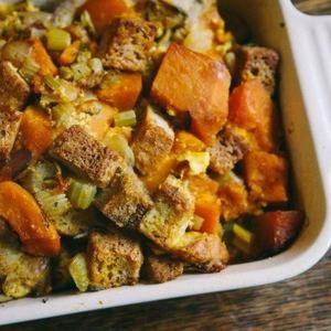 Gluten-Free Kabocha Squash Stuffing