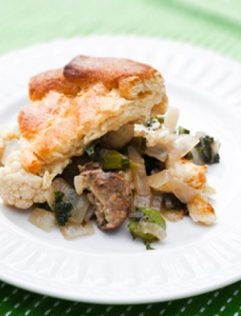 Vegan Sausage, Kale and Cauliflower Potpie
