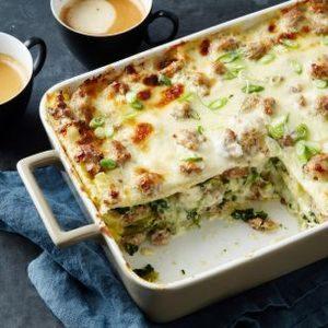 Sausage Gravy Breakfast Lasagna