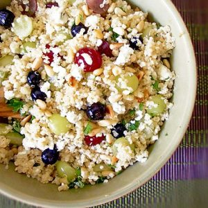 Quinoa Salad with Grapes and Pine Nuts
