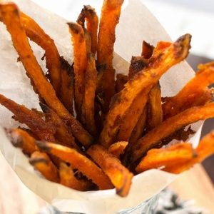 Sweet & Spicy Baked Sweet Potato Fries