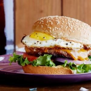 Hangover Breakfast Sausage-and-Egg Burger