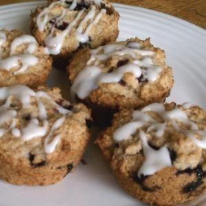 Iced Lemon Blueberry Muffins (Vegan)