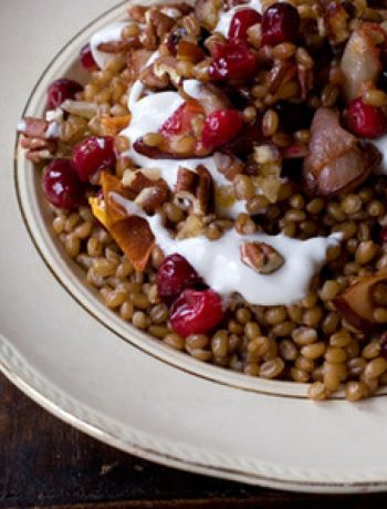 Wheat Berry Breakfast Bowl