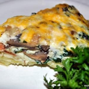 Sweet, Sweet, Sweet Potato Quiche With Bacon and Mushrooms