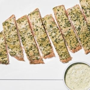 Roast Side of Salmon with Mustard, Tarragon, and Chive Sauce recipes