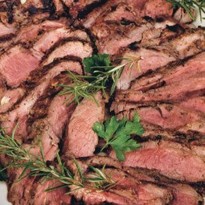 Grilled Leg of Lamb with Rosemary, Garlic, and Mustard