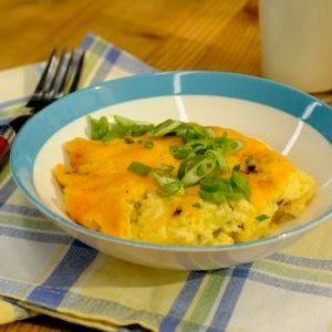 Cheesy Sausage Breakfast Grits