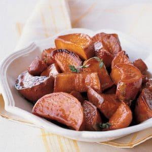 Maple-Glazed Sweet Potatoes