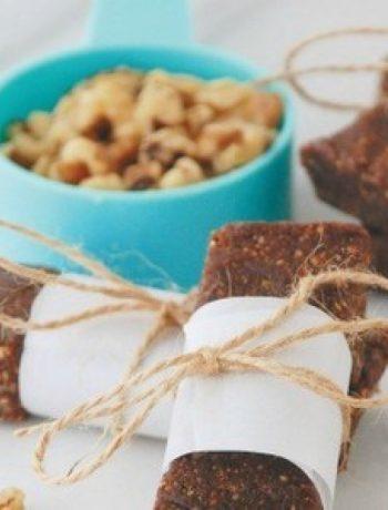Mexican Chocolate Walnut Snack Bars