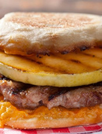Apple and Cheddar Breakfast-Sausage Burger Recipe
