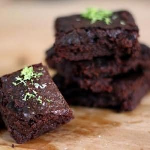 Snack Extra-Dark Brownies With Sea Salt & Lime
