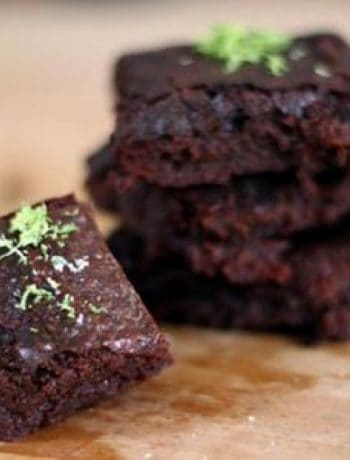 Snack Extra-Dark Brownies With Sea Salt & Lime