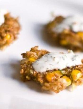 Kasha Corn Fritters (Vegan)