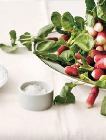 Radish With Butter And Sea Salt And Radish Greens Salad