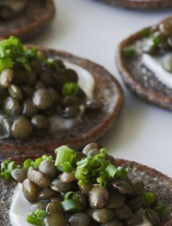Beluga Lentil Caviar on Blini recipes