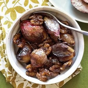 Caramelized Shallots And Walnuts
