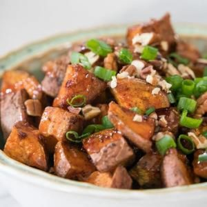 Sweet and Spicy Glazed Sweet Potatoes