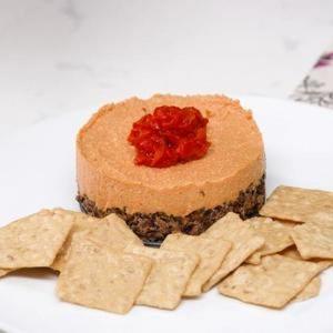 Savory Vegan Pimiento Cheesecake