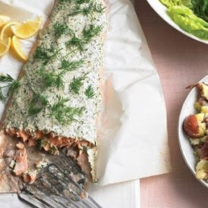 Roasted Salmon with Herbed Yogurt recipes