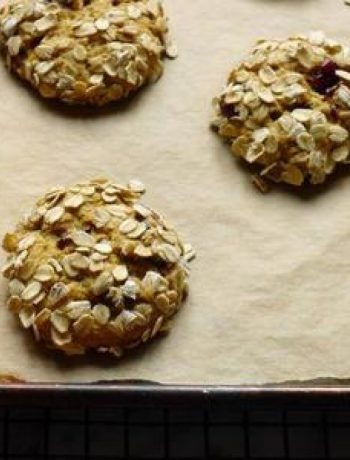 Gluten-Free Pumpkin, Oat and Cranberry Cookies