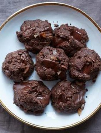 Gluten-Free Double Chocolate Coconut Cookies