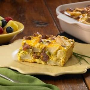 Cheesy Sausage and Potato Breakfast Casserole
