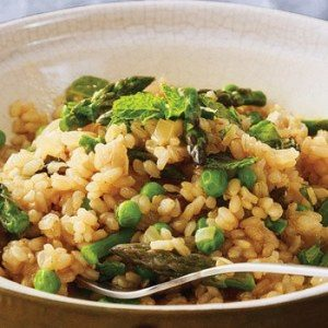 Minted Pea and Asparagus Risotto
