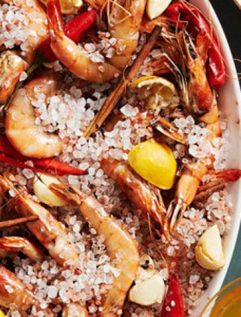 Salt-Roasted Prawns