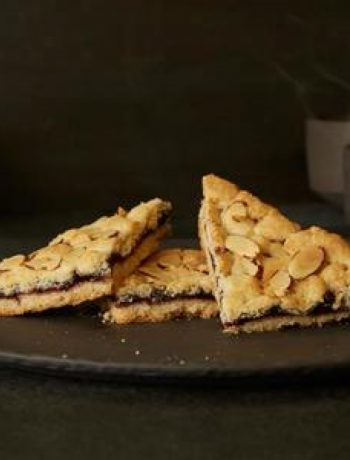 Vegan and Gluten-Free Fruit and Almond Shortbread Bars