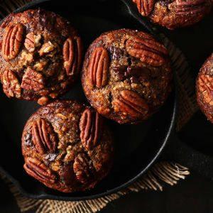 Gluten-Free Vegan Banana Chocolate Pecan Muffins FTW