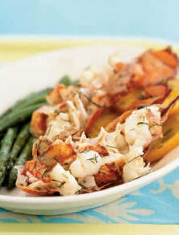 Champagne and Orange-Steamed Lobster Tails en Papillote