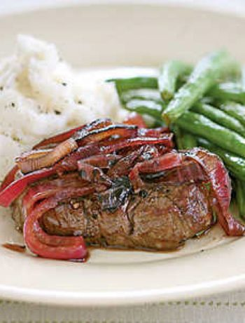 Tenderloin Steaks with Red Onion Marmalade