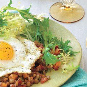 Sunny-Side Up Lentil Salad