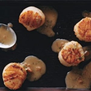 Seared Scallops with Tarragon-Butter Sauce recipes