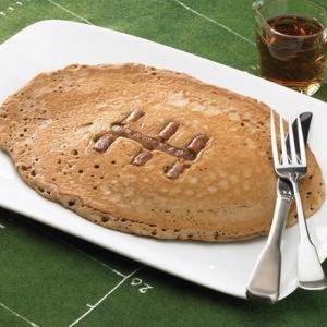 Football Sausage Pancakes