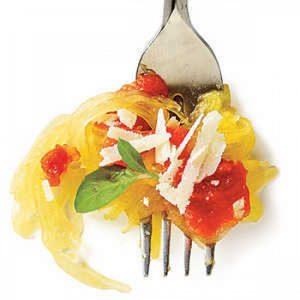 Spaghetti Squash with Tomato-Basil Sauce