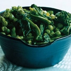Sauteed Broccoli Rabe and Peas. recipes