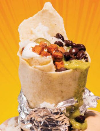 A Sweet Potato Burrito Packs Your Morning with Power